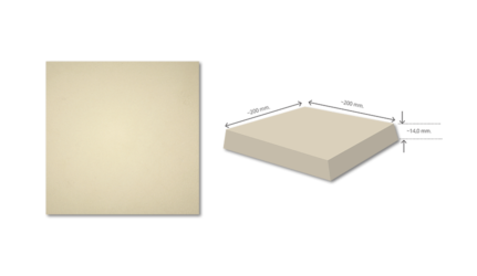 FAVO W4 Light Beige Anti Acid Tile FVW4AB200200-14