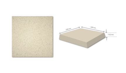 FAVO W4 Mix Beige Anti Acid Tile FVW4MB200200-14