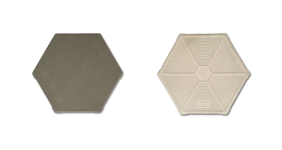 FAVO W6 Grey Hexagonal Anti Acid Tile FVW6G10011613-2