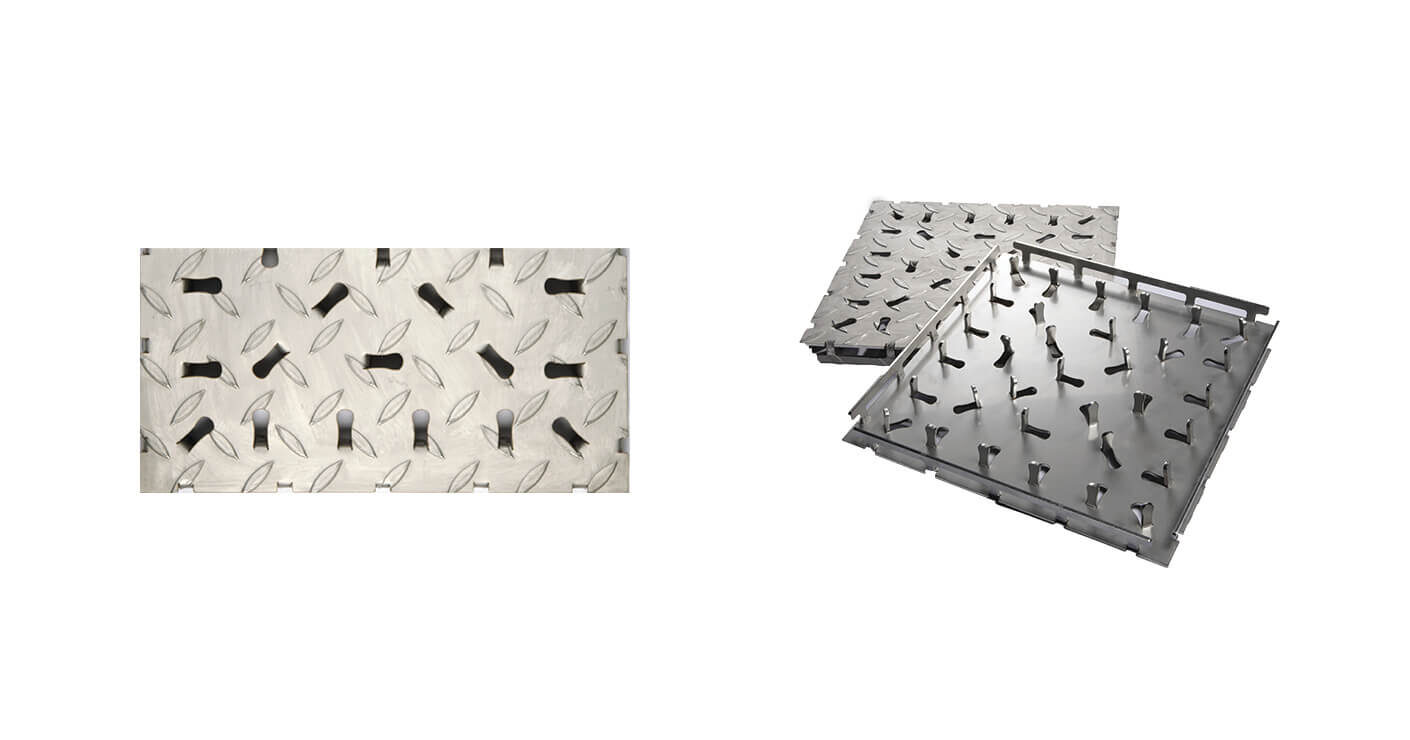 Stainless Steel Tile - Non-Slip Surface Transition Tile KPK150-03001503