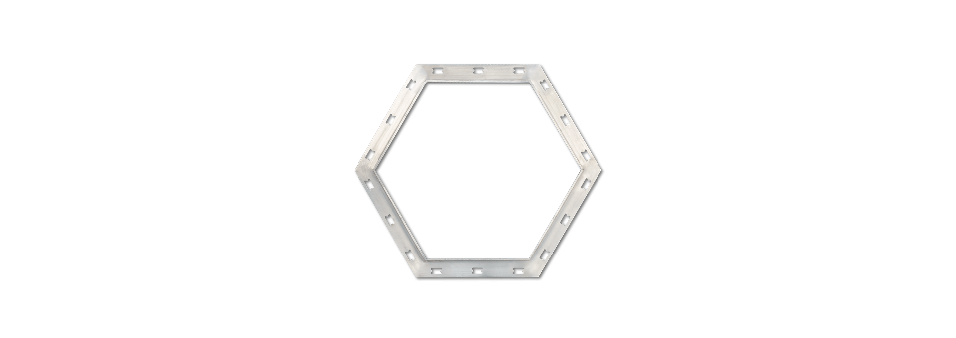 Stainless Hexagonal Frame Transition Joint Profiles PRFSS450-PGP006