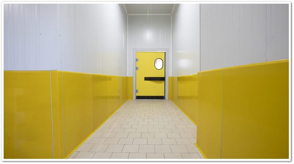 Hygienic Curb Wall and Panel Protector Application   Vibroser