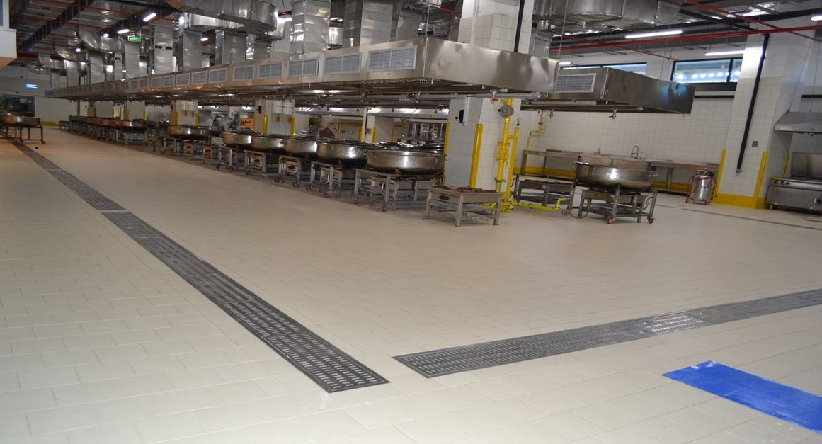 Vibroser food manufacturing flooring application of